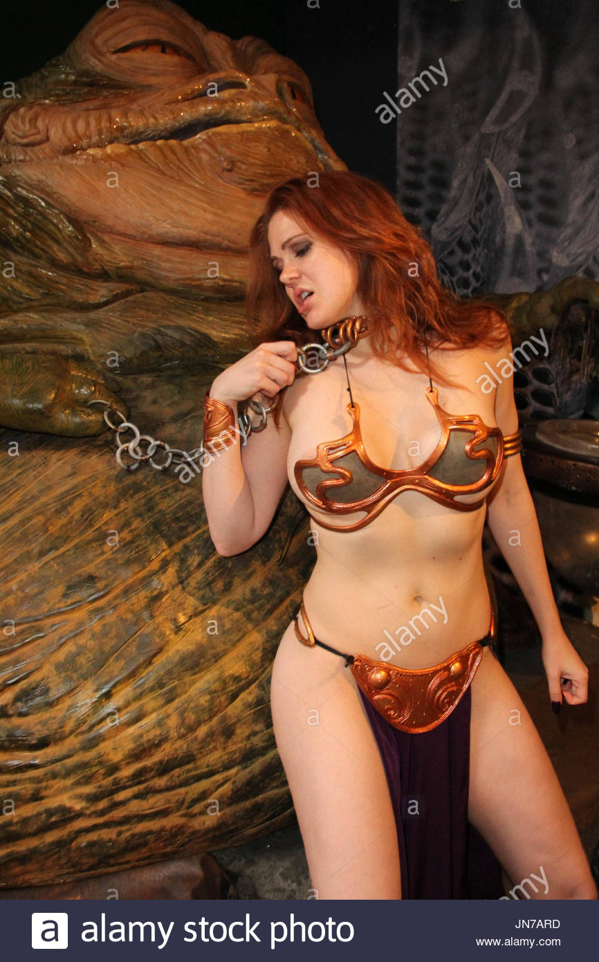 Maitland Ward poses in a custom  Slave Leia  costume from LeiasMetalBikini.com for a pre- May The Fourth  Annual u0027Star Warsu0027 Day photo shoot with Jabba The ...  sc 1 st  Alamy & Maitland Ward. Maitland Ward poses in a custom