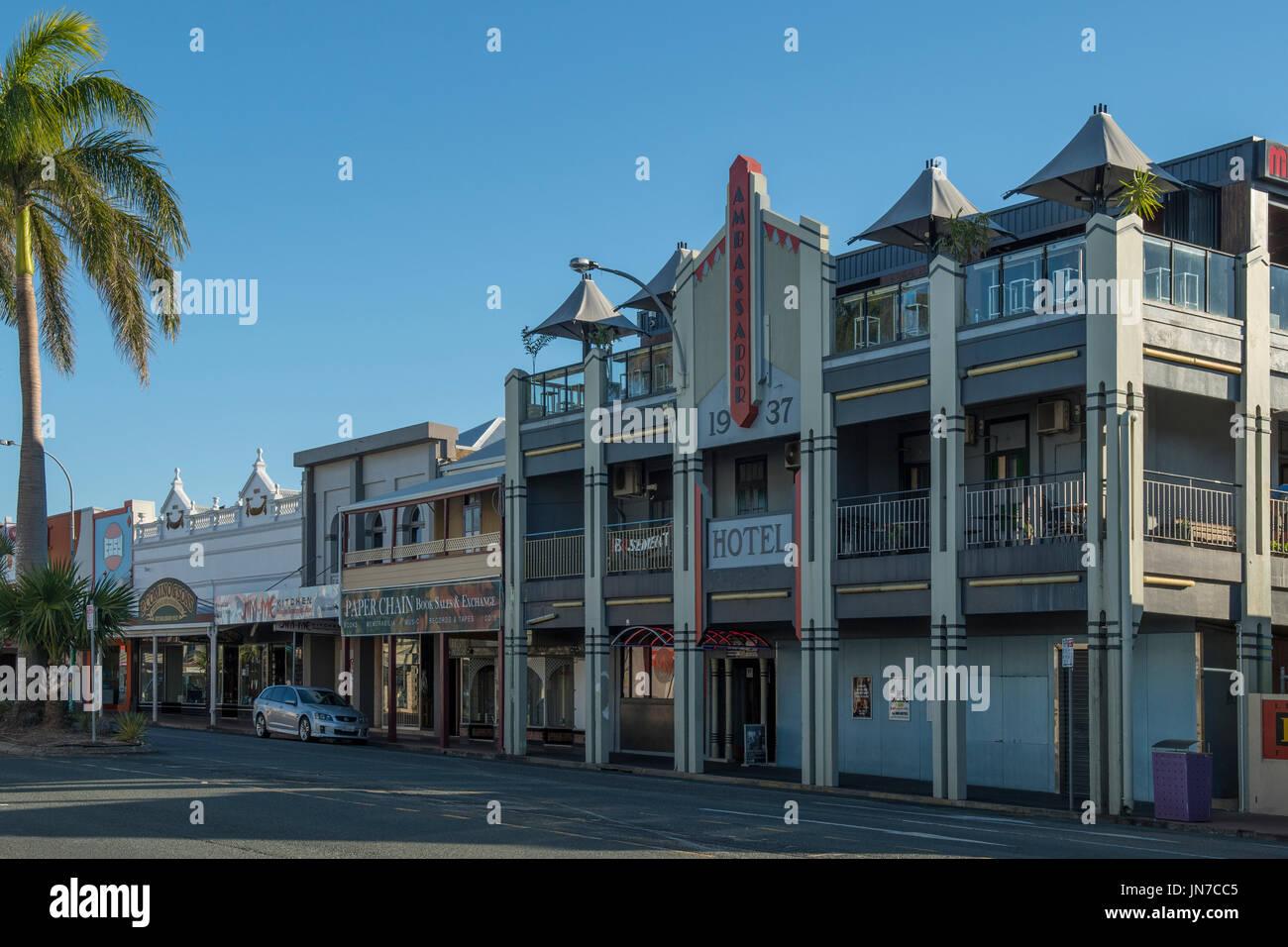 Art Deco Ambassador Hotel, Mackay, Queensland, Australia - Stock Image