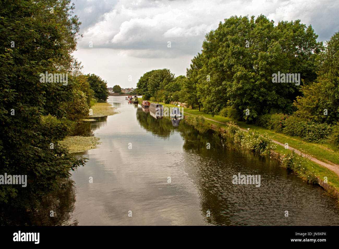 The end of the Glasson Dock spur - Stock Image