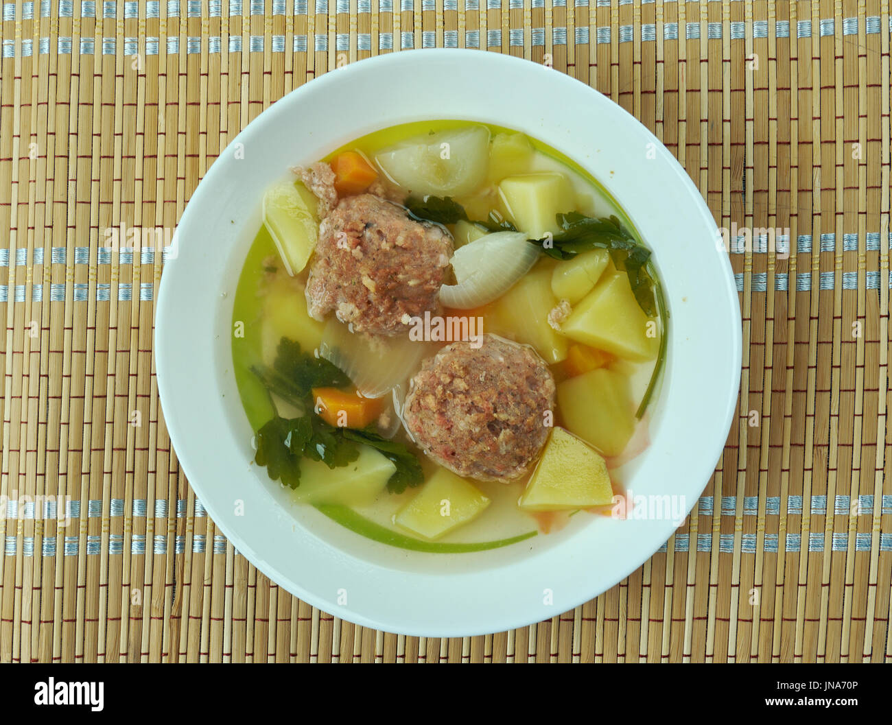 Gondi -  Persian Jewish dish of meatballs,made from ground lamb, veal or chicken - Stock Image