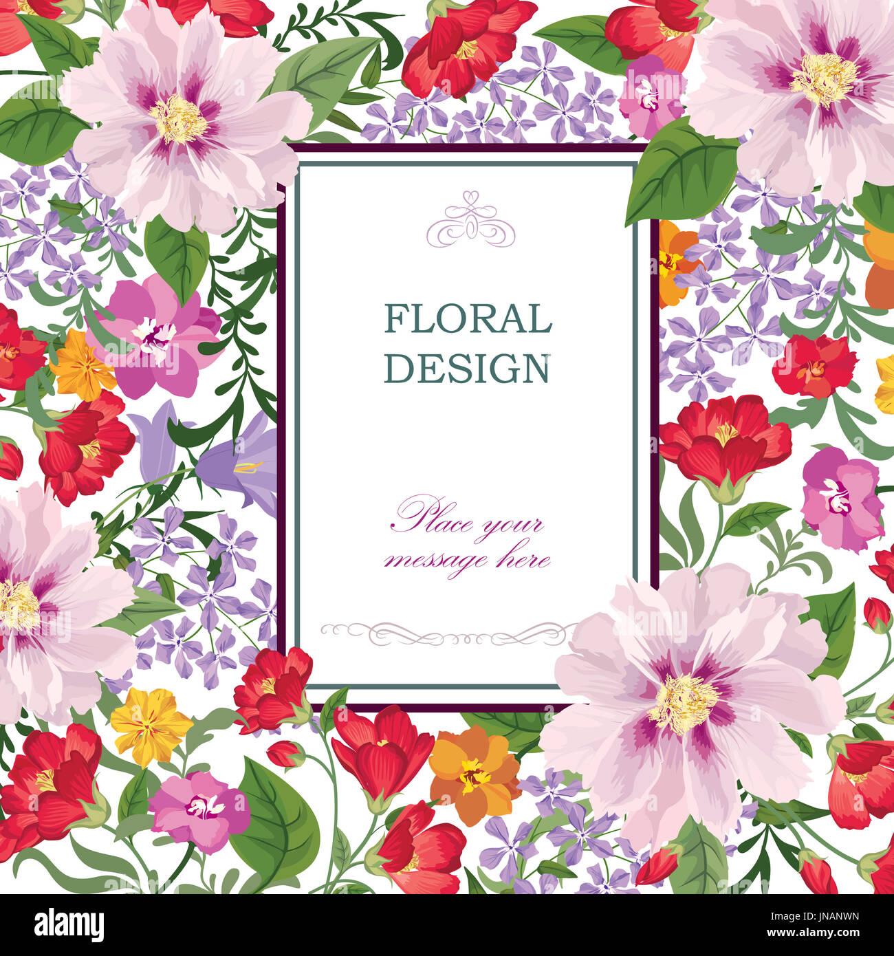 Greeting Card Flower Stock Photos Greeting Card Flower Stock