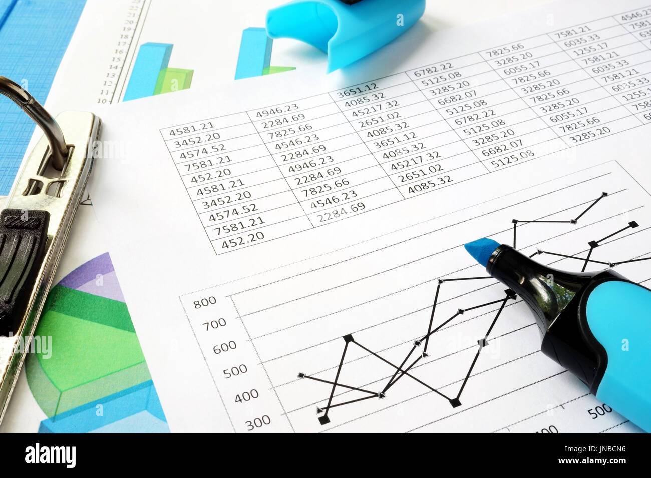Accountability concept. Financial documents in an office. - Stock Image