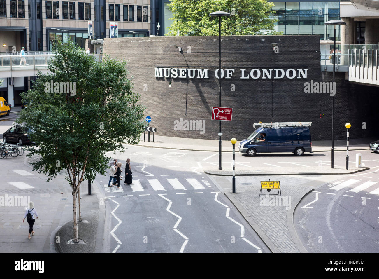 Museum of London, London Wall, City of London, UK - Stock Image