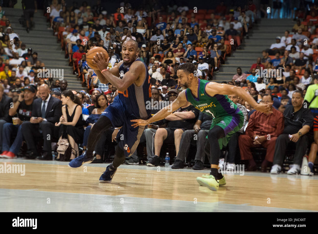 7ee495318245 Andre Owens  20 3 s Company offense while Mahmoud Abdul-Rauf  7 3 Headed  Monsters guards him during Game  3 Big3 Week 5 3-on-3 tournament UIC  Pavilion July ...