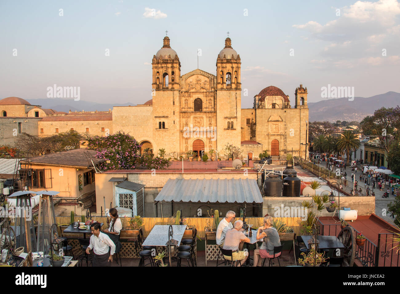 Rooftop Restaurant In Front Of Templo De Santo Domingo