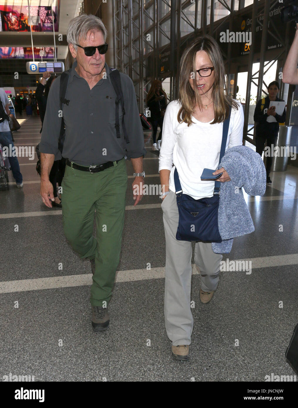 Harrison Ford and Calista Flockhart arrive at Los Angeles