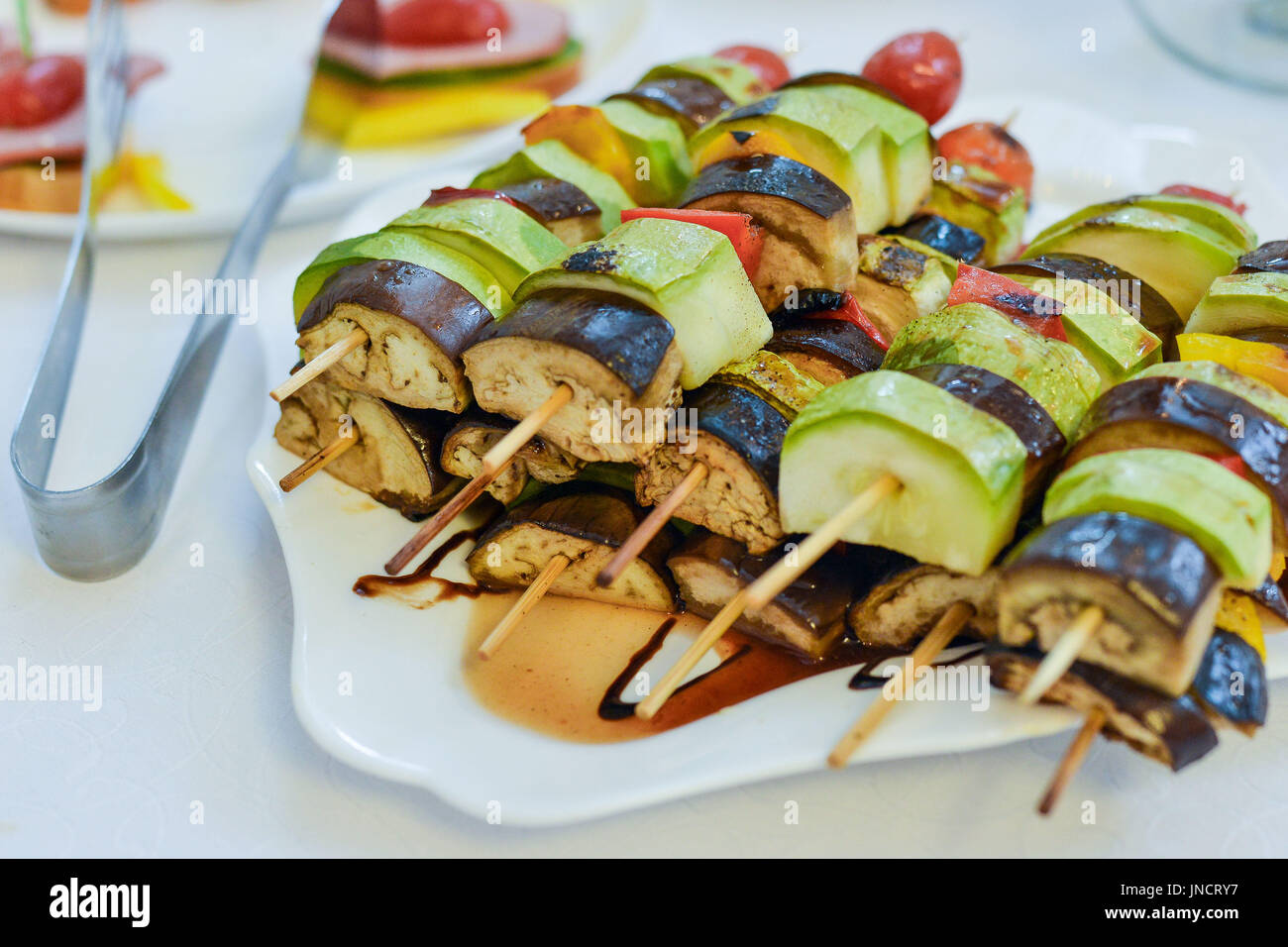 catering canapes food - Stock Image