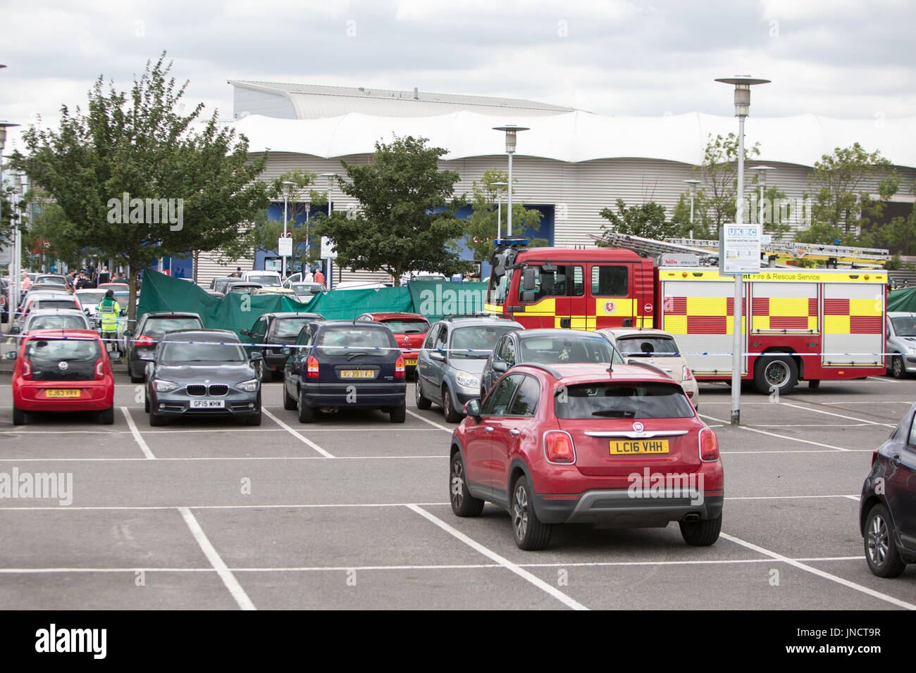 A man has been arrested after allegedly slitting a woman's throat in a busy shopping centre car park this morning (29June17) at Dockside outlet centre in Chatham, Kent  Featuring: Atmosphere Where: Chatham, Kent, United Kingdom When: 29 Jun 2017 Credit: WENN.com - Stock Image