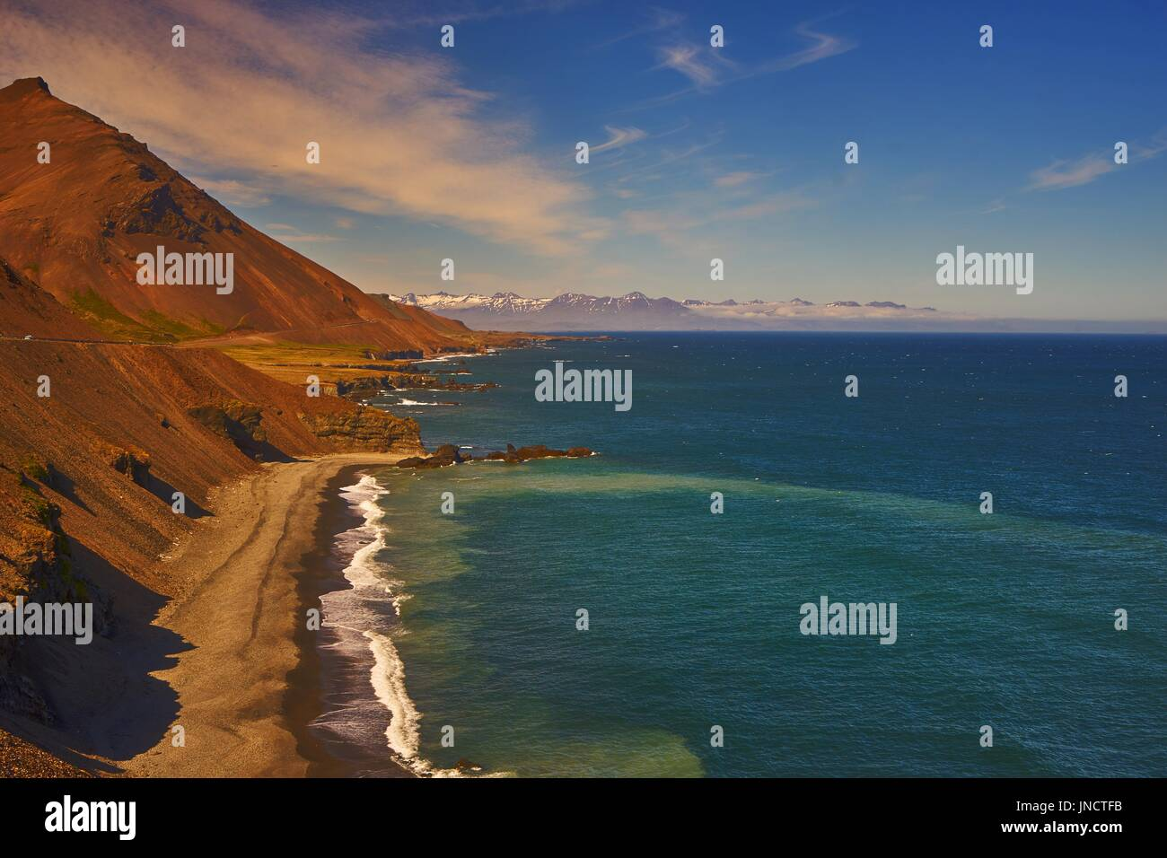 Beach at the east coast of Iceland - Stock Image