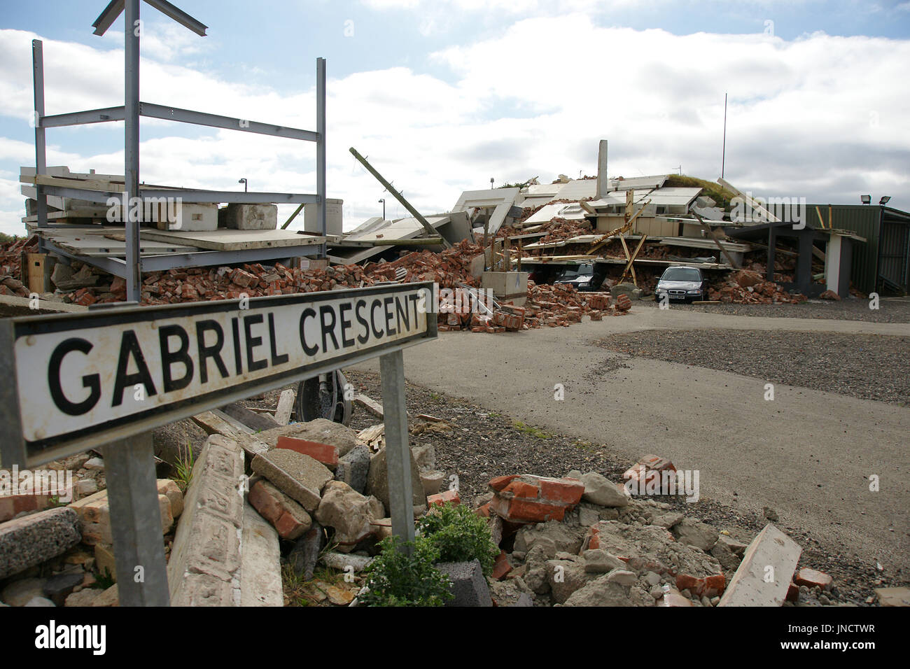 structural failure, building collapse Stock Photo: 150873683