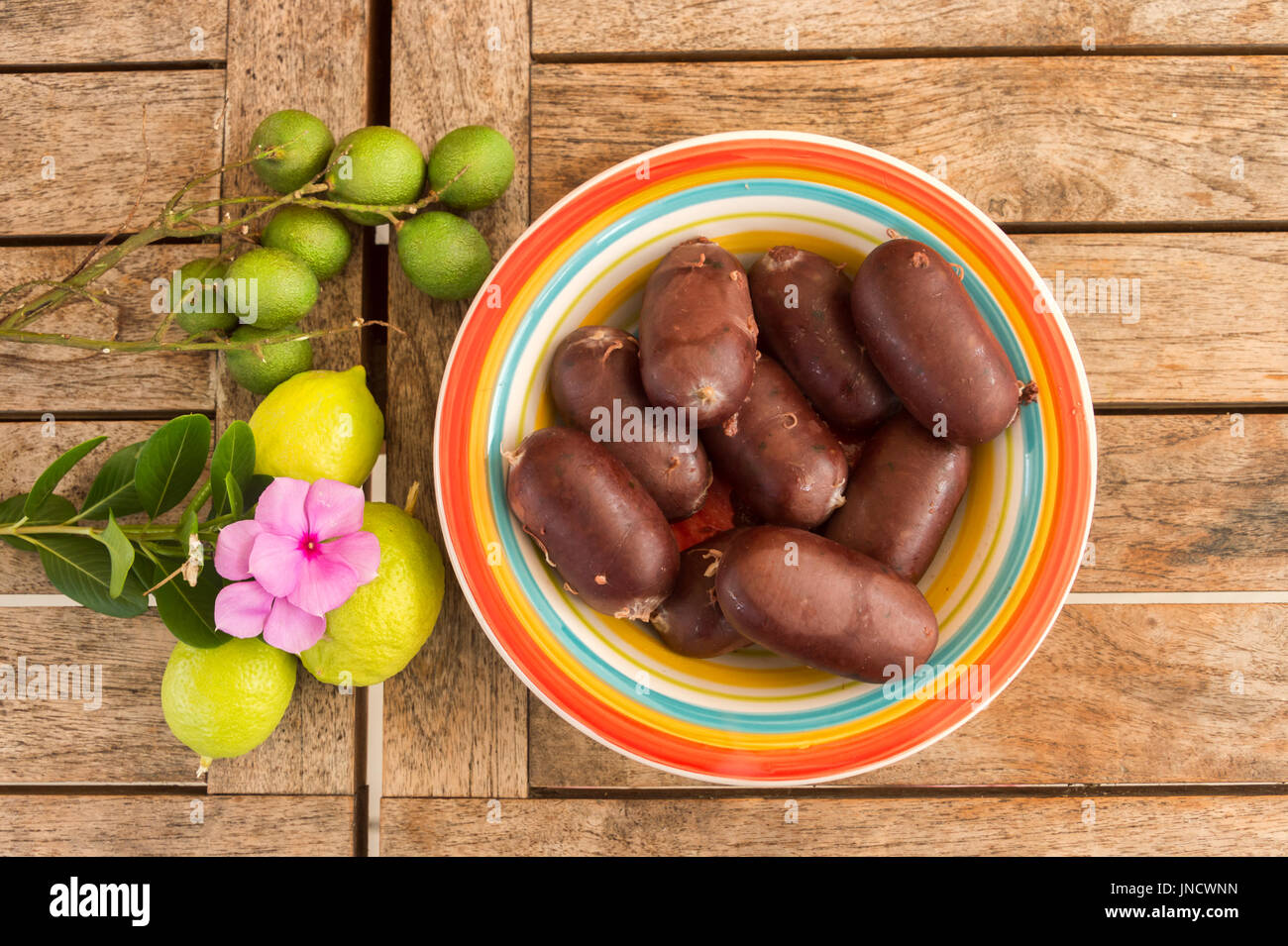 Creole Black Pudding in Martinique - Stock Image