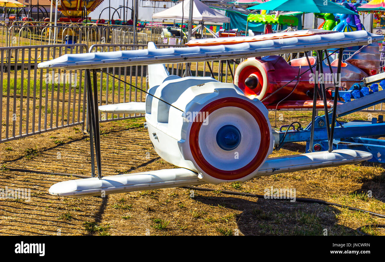 Small Children's Ride At Local County Fair - Stock Image