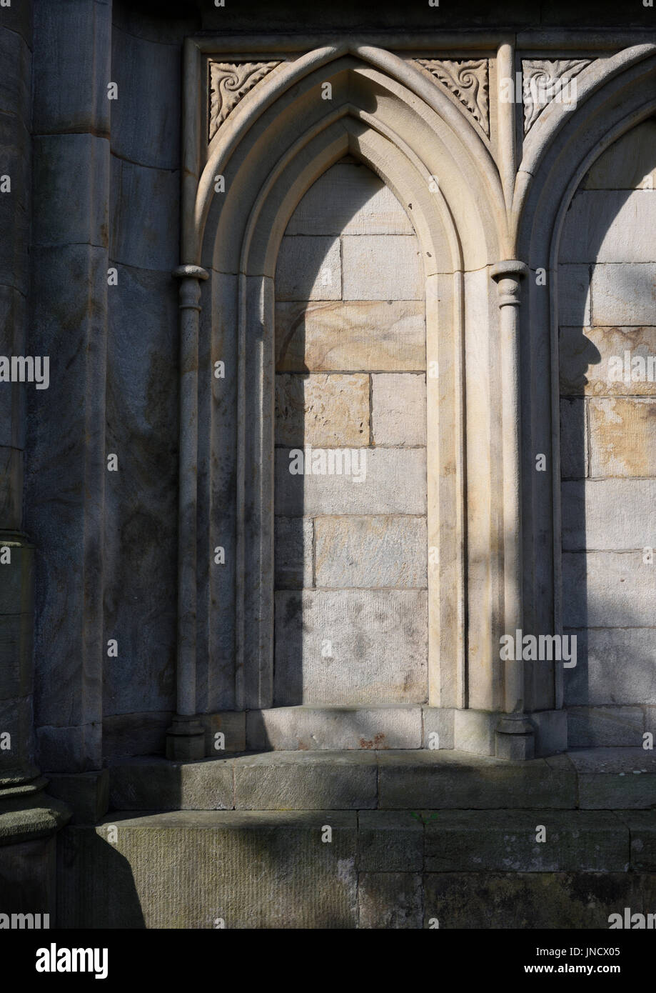 Blind arch at all saints church stand whitefield Stock Photo