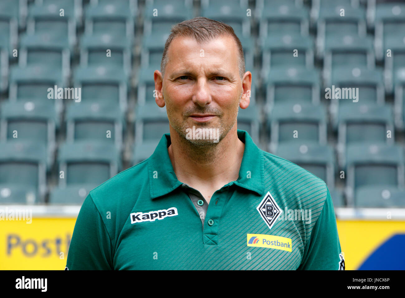 football,Bundesliga,2017/2018,Borussia Moenchengladbach,press photo shooting,portrait,physiotherapist Dirk Mueller Stock Photo