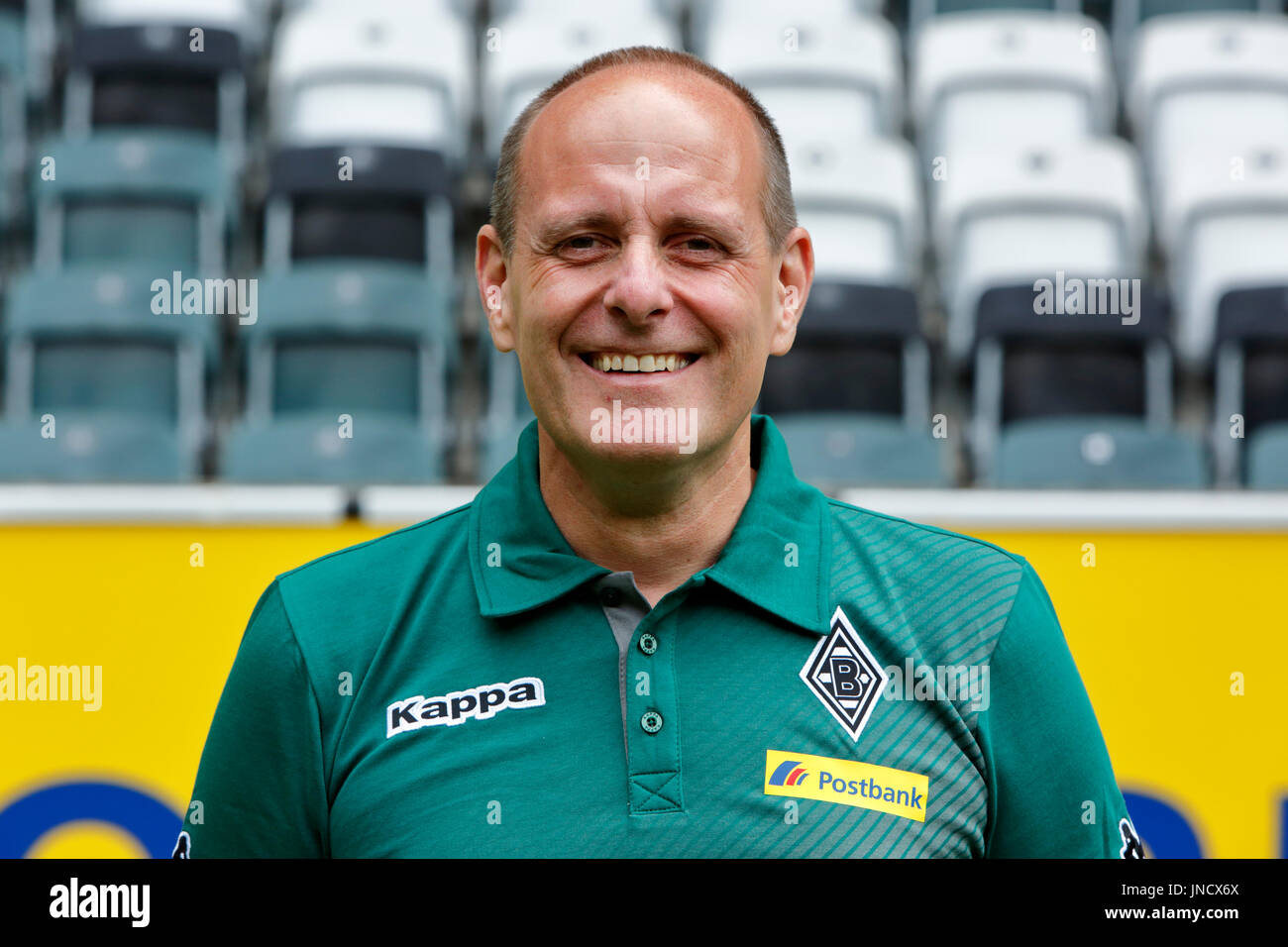 football,Bundesliga,2017/2018,Borussia Moenchengladbach,press photo shooting,portrait,kitman Marcus Breuer - Stock Image