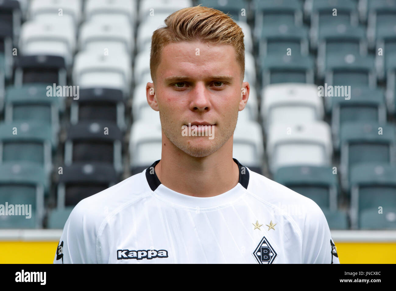 football,Bundesliga,2017/2018,Borussia Moenchengladbach,press photo shooting,portrait,Nico Elvedi - Stock Image