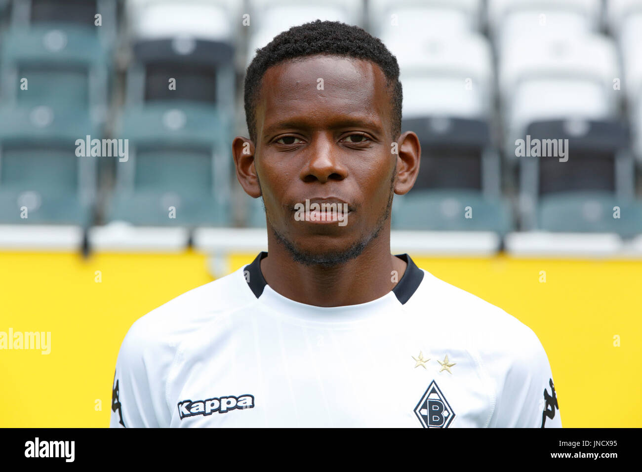 football,Bundesliga,2017/2018,Borussia Moenchengladbach,press photo shooting,portrait,Ibrahima Traore Stock Photo
