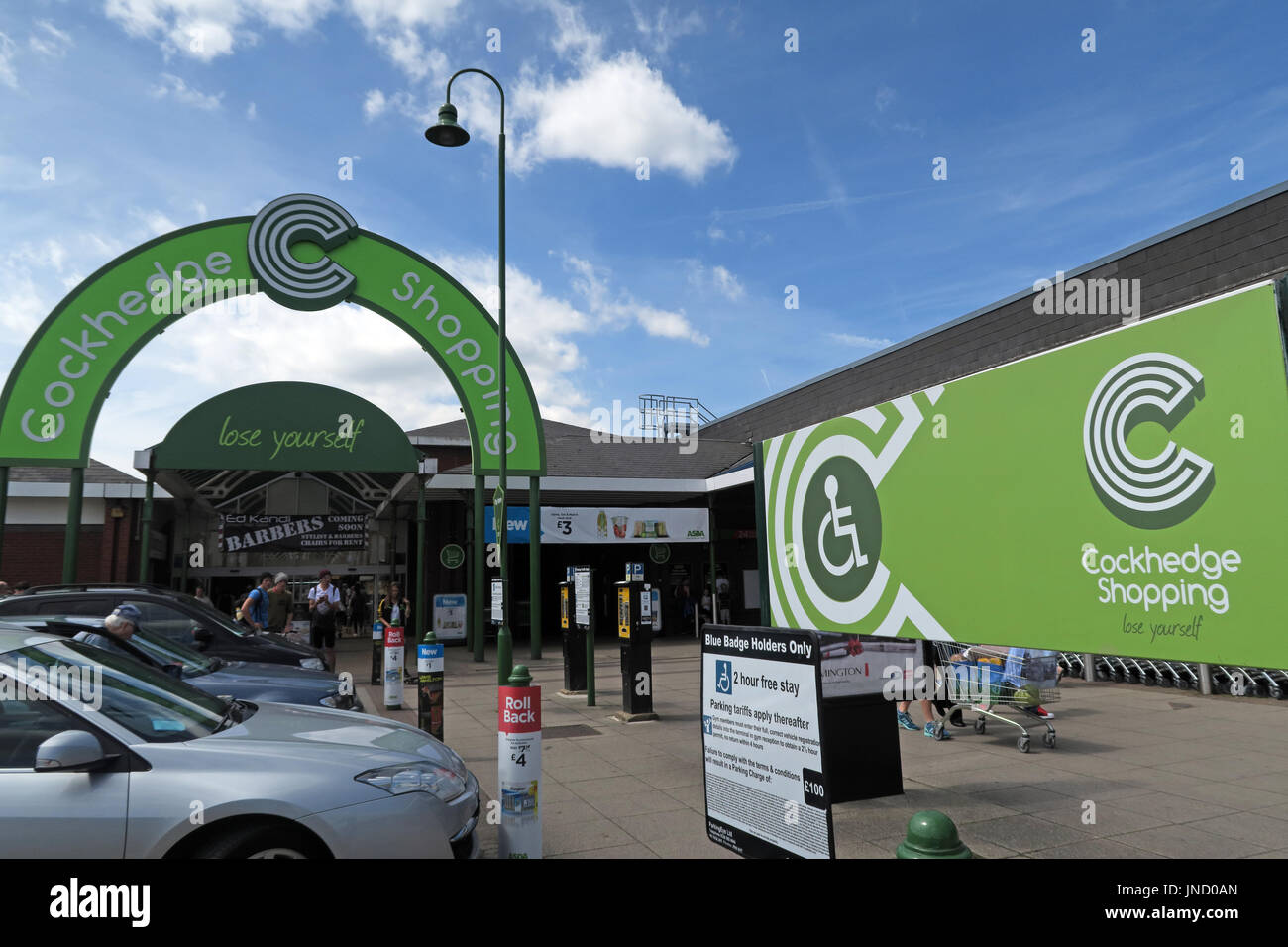Cockhedge Shopping Centre, Warrington, North West England - Stock Image