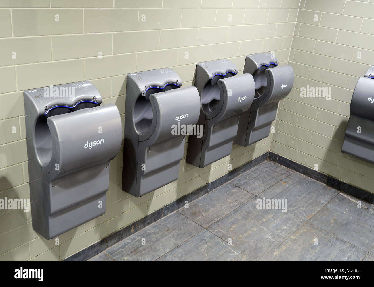 Dyson Advanced Handdryers Gloucester Services M5 - Stock Image