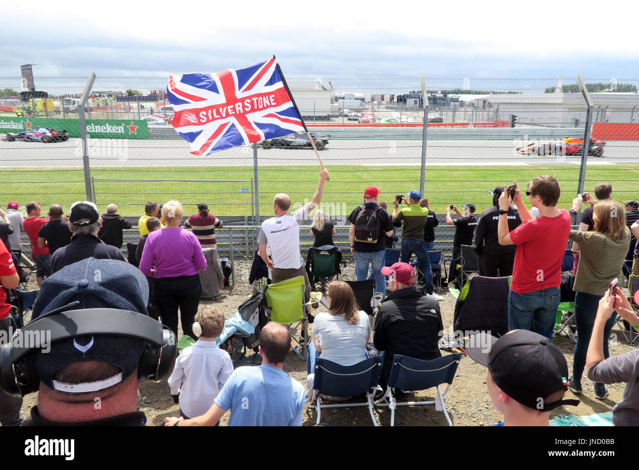 Silverstone Flag at Formula1 racing circuit Stock Photo