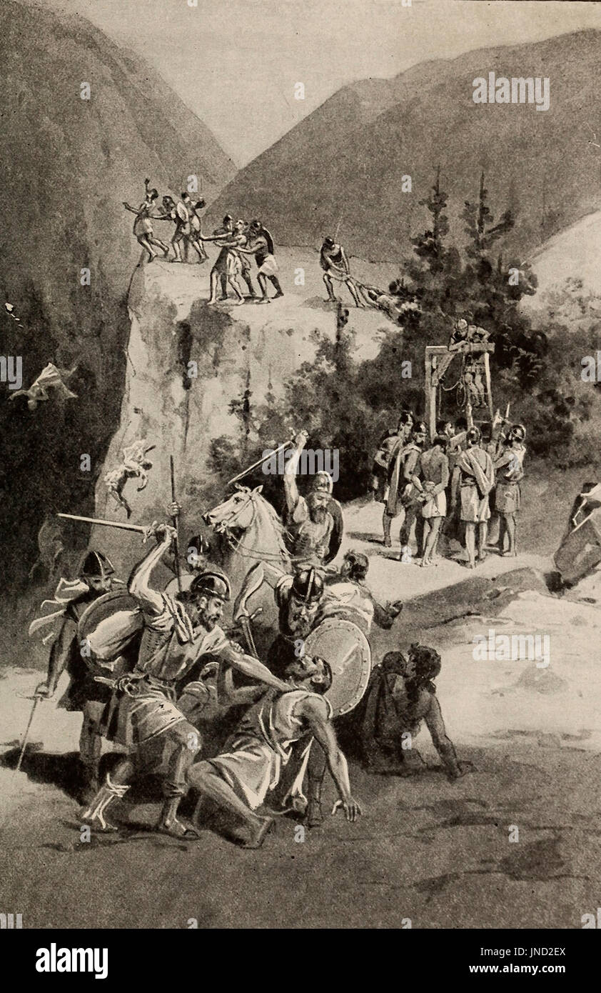 Christians are slain by the Pagans - Stock Image