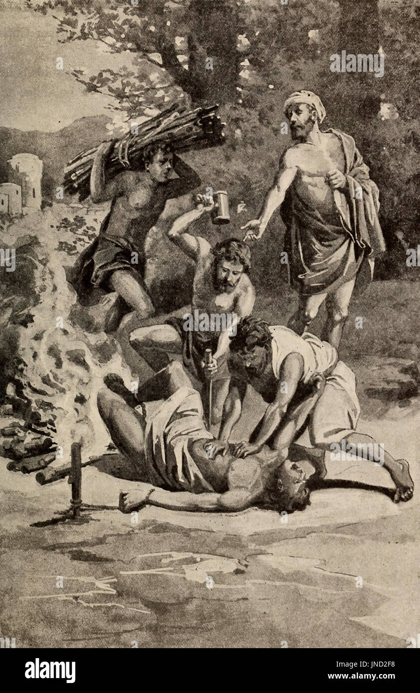 The Persians take Antioch and cruelly torture the Christians - Stock Image