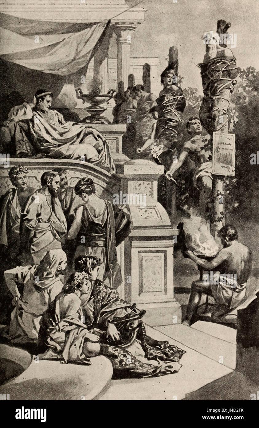 Emperor Nero's torches - Stock Image