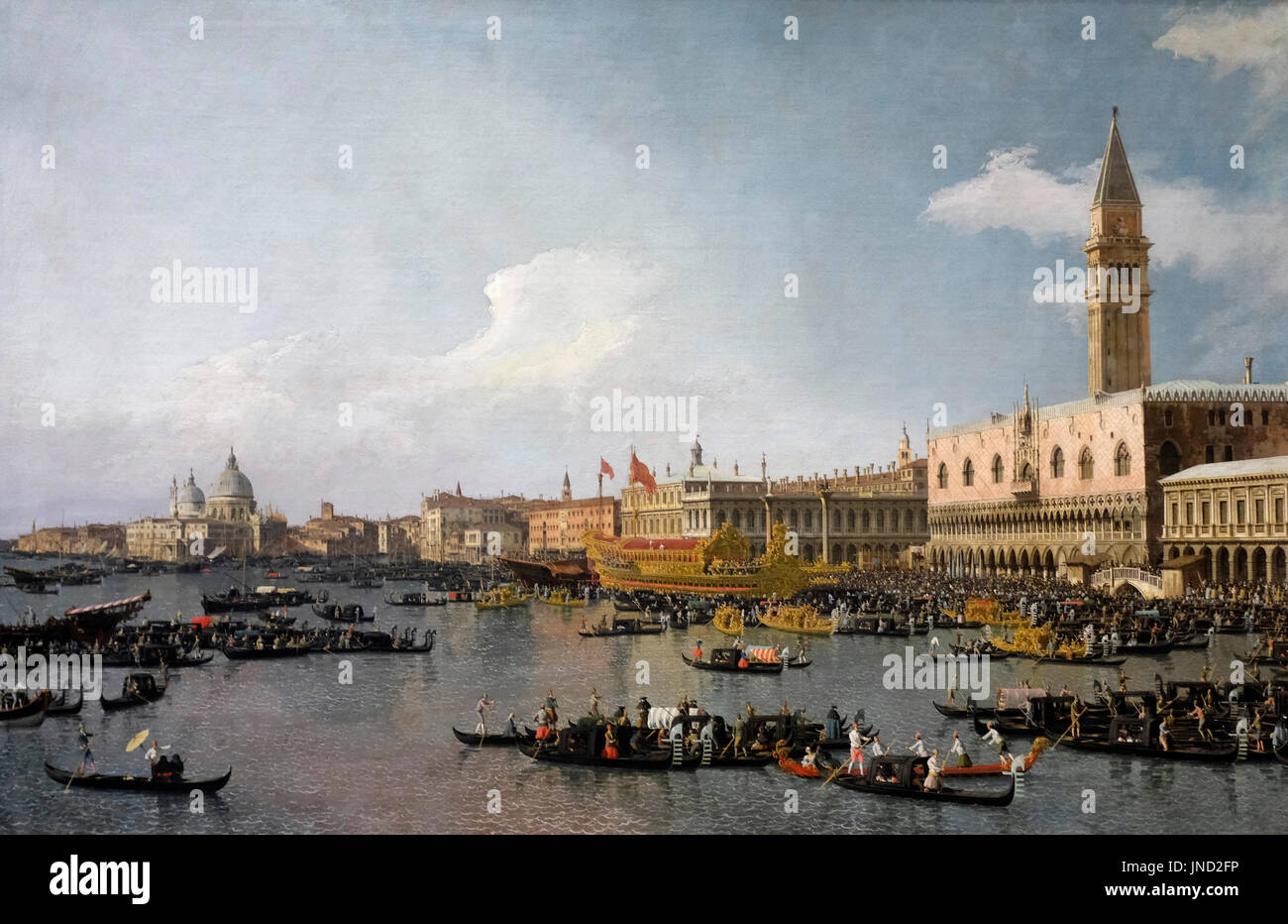 Venice - The Basin of San Marco on Ascension Day, circa 1740 - Canaletto - Stock Image