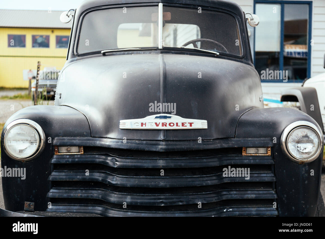 oldtimer car homer spit homer kenai peninsula alaska usa stock photo alamy alamy