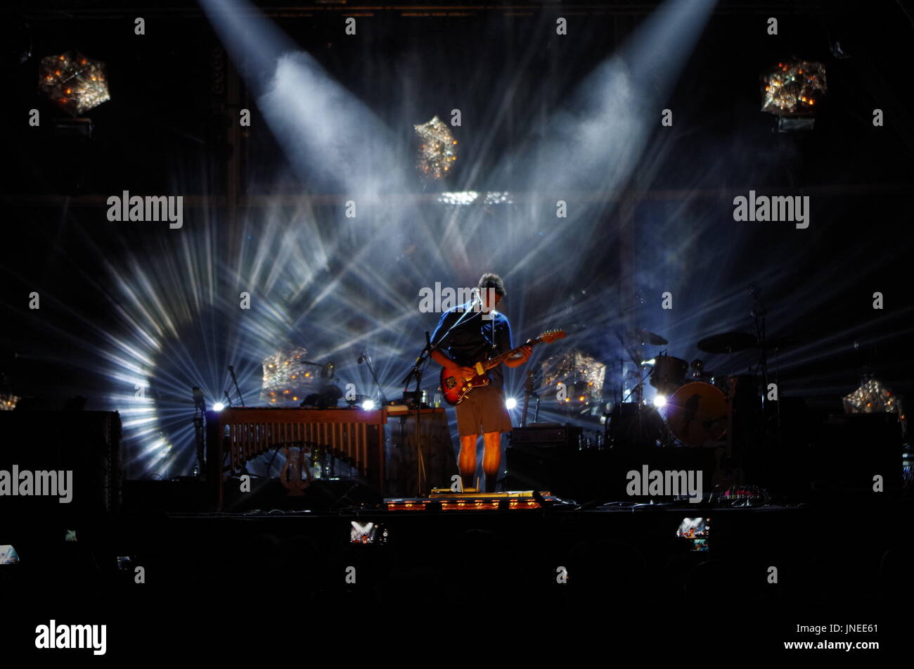 Algarve, Portugal. 29th July, 2017. Miguel Araujo concert at Festival Al-Buhera 2017 in Albufeira. 4th day day of the festival. Credit: Angelo DeVal/Alamy Live News - Stock Image