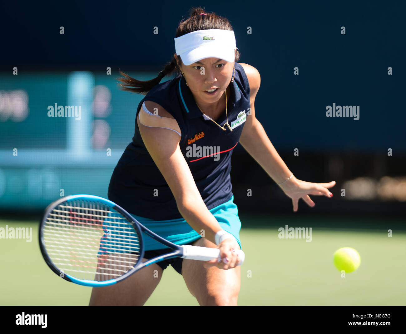 Stanford, United States. 29 July, 2017. Hao-Ching Chang of Taipeh in action at the 2017 Bank of the West Classic WTA International tennis tournament © Jimmie48 Photography/Alamy Live News - Stock Image