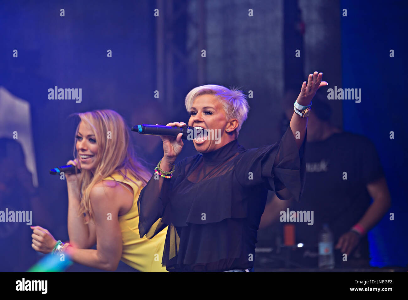 Liverpool, UK. 29th July, 2017. Atomic Kitten performing on stage in Liverpool at the Liverpool Pride weekend. Credit: ken biggs/Alamy Live News - Stock Image