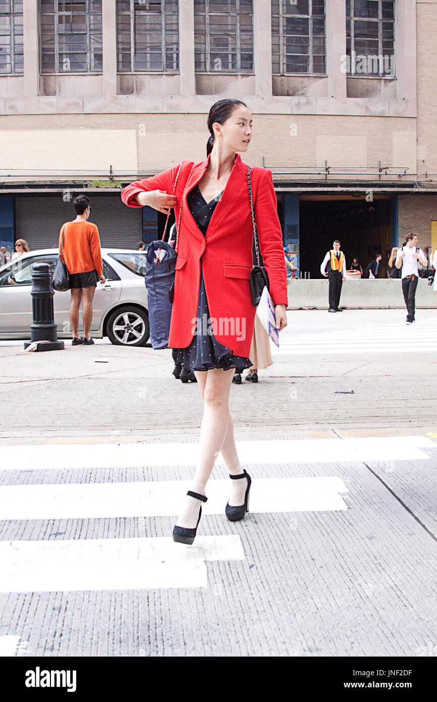 Model off duty  Asian fashion model street style wearing a