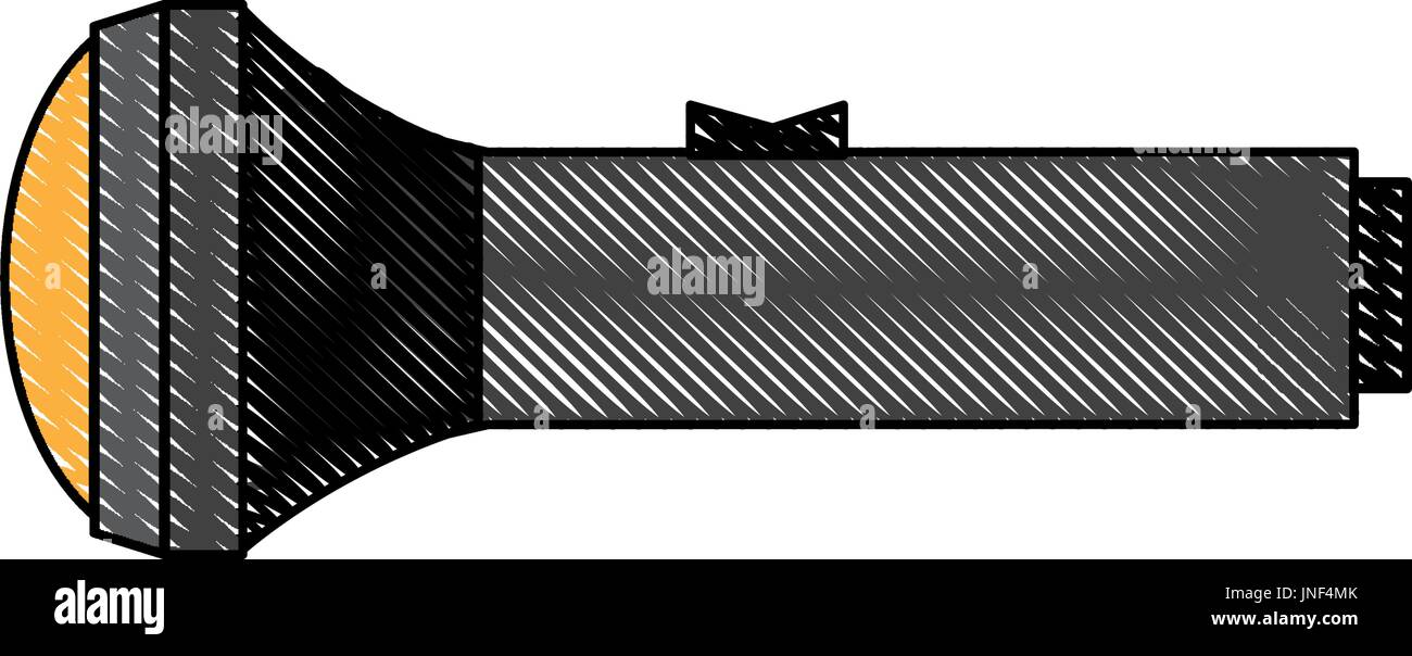 pocket metallic flashlight luminescence equipment device - Stock Image