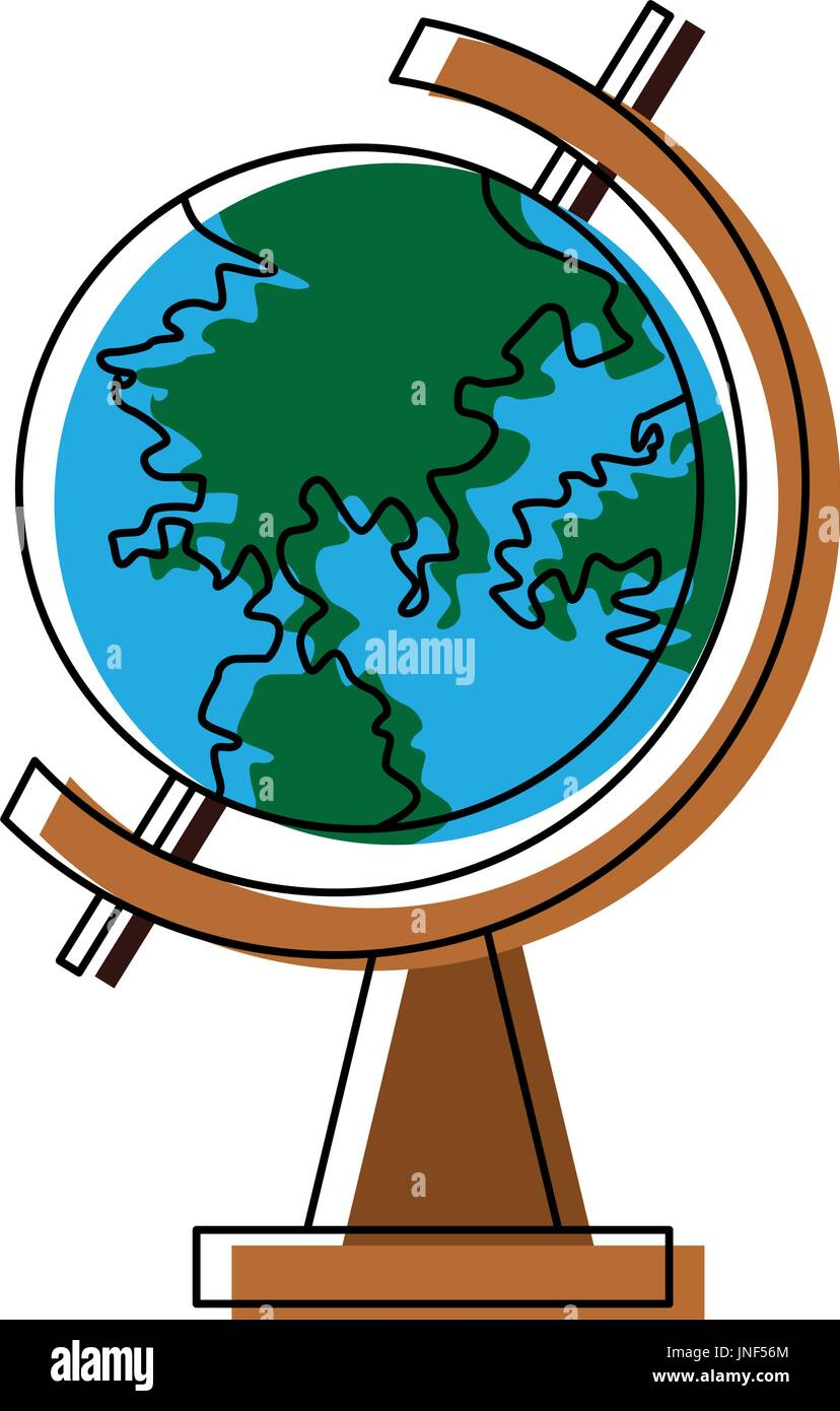 school globe geography navigation location map - Stock Vector