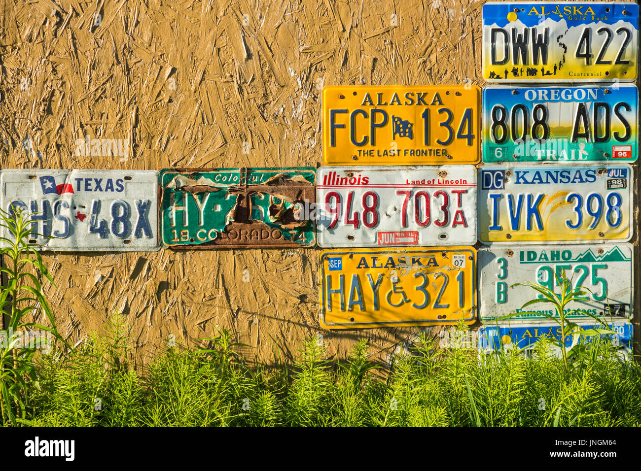 Usa Number Plate Stock Photos & Usa Number Plate Stock Images - Alamy