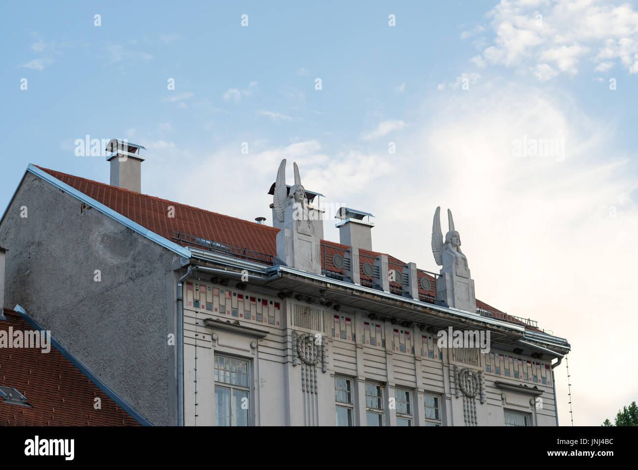 Samobor's building decoration (main square) Stock Photo