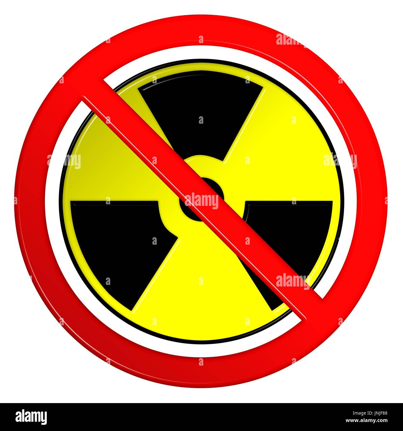 Nuclear Radiation Hazard Sign Stock Photos Nuclear Radiation