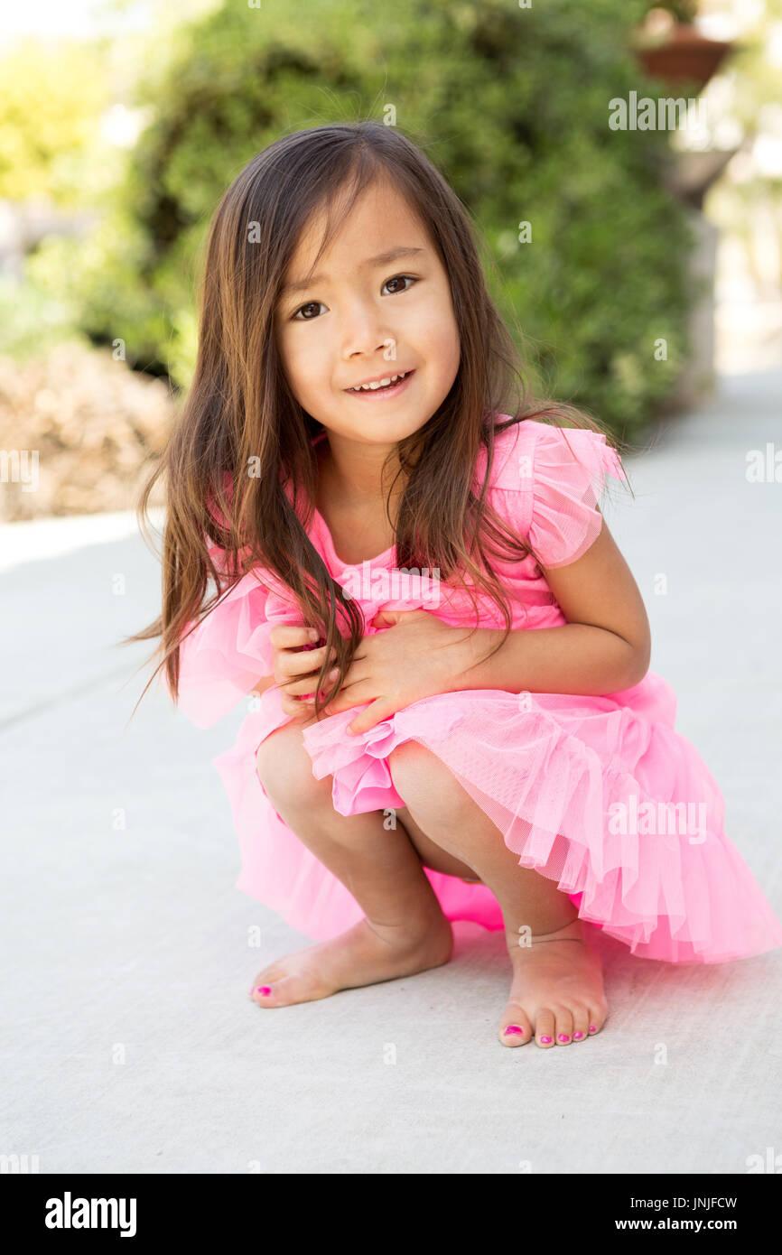 little girl up