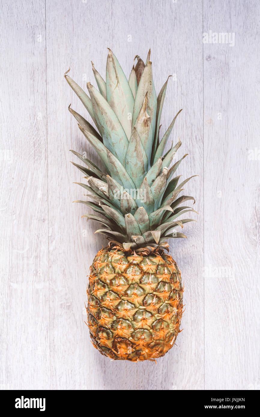 Fresh pineapple, juicy ripe pineapple fruit - Stock Image