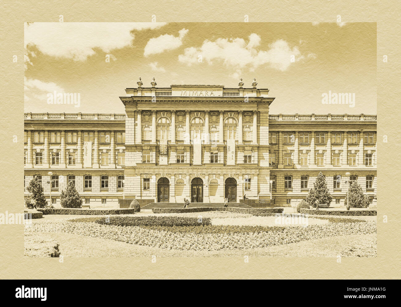 The Mimara Museum was created by the private collection of Wiltrud and Ante Topic Mimara to the museum, Zagreb, Croatia, Europe - Stock Image