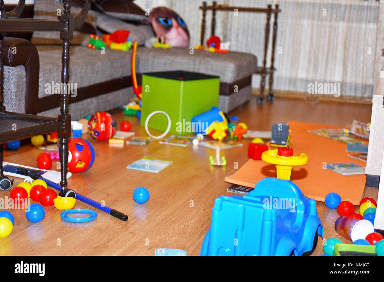 A mess in the children's room. - Stock Image
