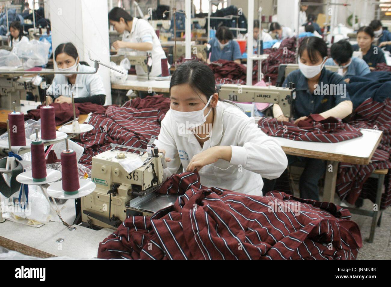 HANOI, Vietnam - Garment workers in Hanoi, the backbone of Vietnam's