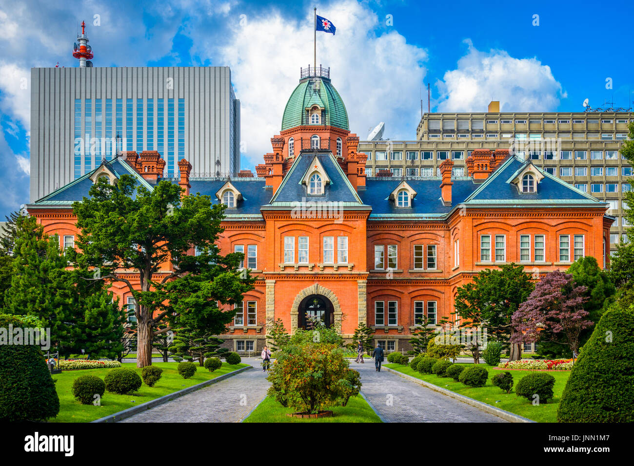 Sapporo, Japan at the historic Former Hokkaido Government Offices. - Stock Image