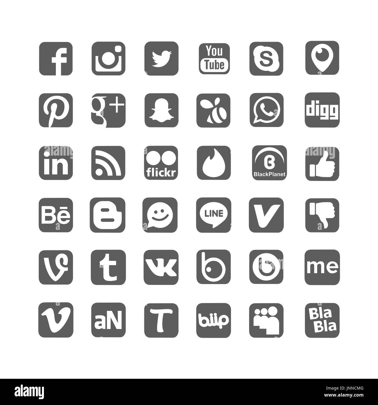 Snapchat Logo Black and White Stock Photos & Images - Alamy