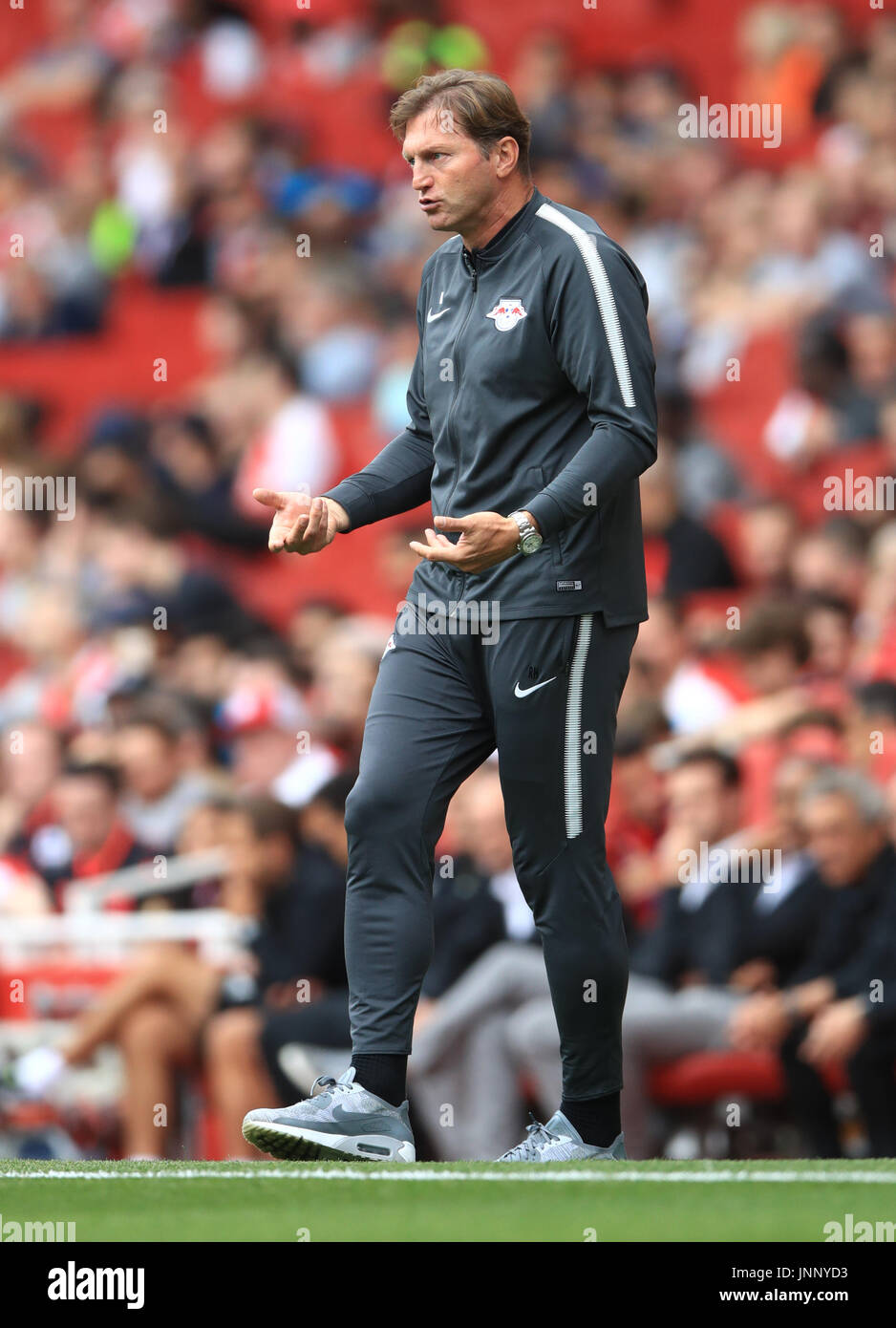 Red Bull Leipzig Manager Ralph Hasenhuttl During The Emirates Cup Stock Photo Alamy