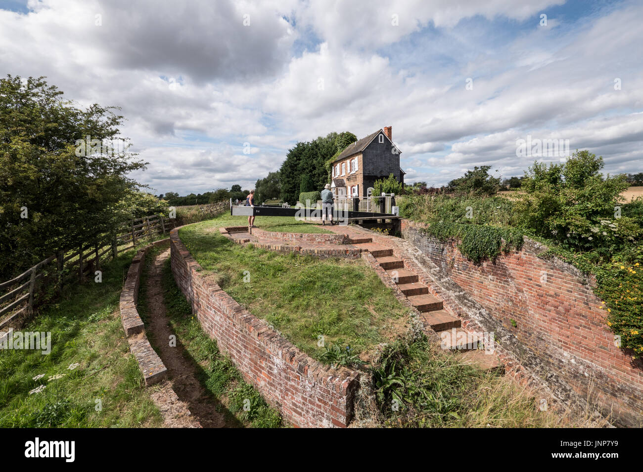 Somerton Deep Lock on the Oxford Canal, Oxfordshire, UK. - Stock Image