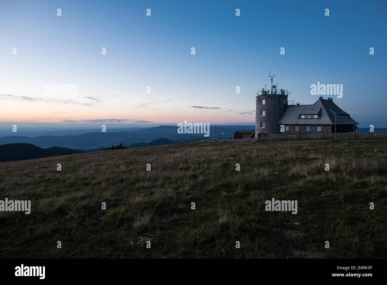 weather station Feldberg germany Stock Photo