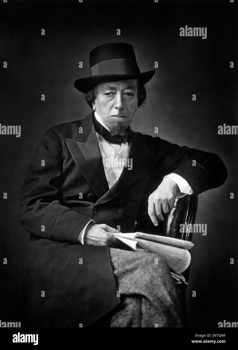 Disraeli. Portrait of British Prime Minister Benjamin Disraeli, 1st Earl of Beaconsfield (1804-1881), photograph 1878 Stock Photo
