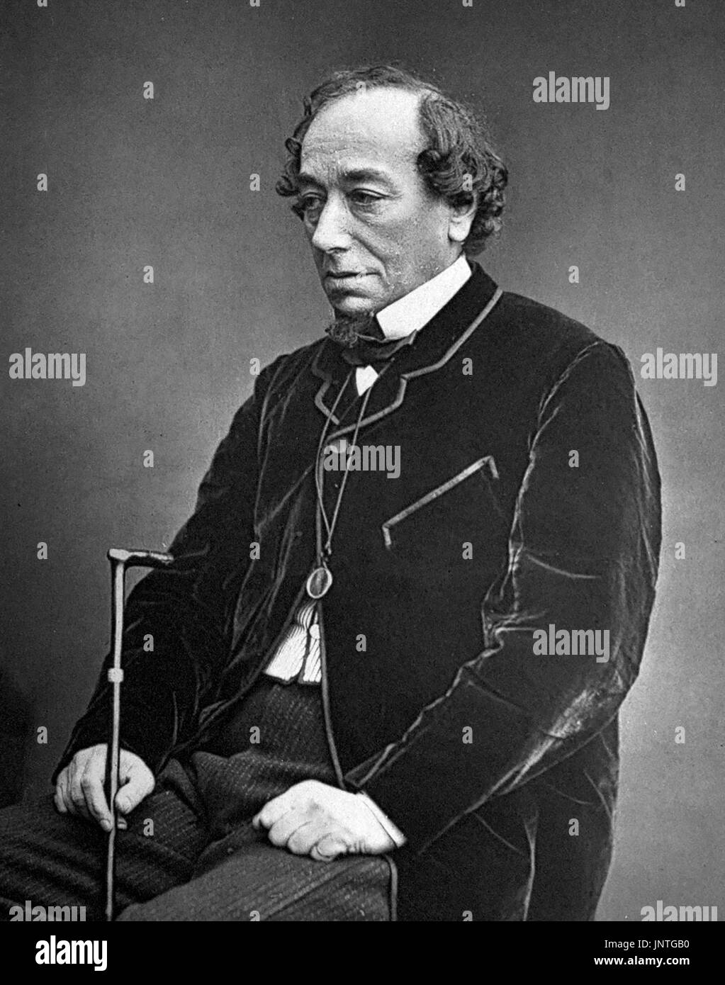 Disraeli. Portrait of Benjamin Disraeli, 1st Earl of Beaconsfield (1804-1881), photograph c.1878 - Stock Image